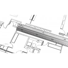 Escalímetre d'alumini 30 cm THIRTY