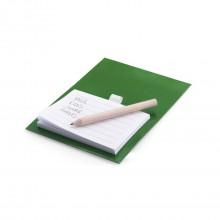 Imant personalitzat amb bloc de notes i llapis