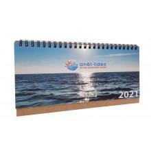 Calendari sobretaula cartronet karft wire-o 7 fulls personalitzat