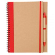 Llibreta 16,5 x 21 60 cm.  fulles blanques bolígraf inclòs TUNEL