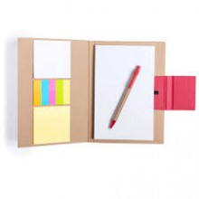 Bloc de notes 14,5 x 21 cm . bloc 50 fulles i 30 notes adhesives GANOK