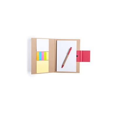 Bloc de notes 14,5 x 21 cm . bloc 50 fulles i 30 notes adhesives GANOK