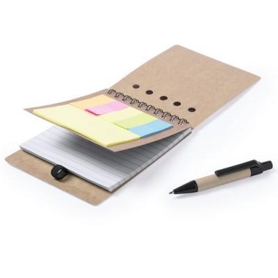 Bloc de notes 9,5 x 13,2 cm. 50 fulles , notes adhesives i bolígraf inclosos DISER