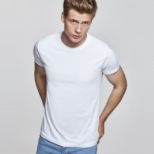 Camiseta algodón manga corta 195g adulto blanca
