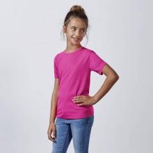 Camiseta fluorescente poliéster tacto algodón 155g AKITA