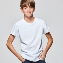 Camiseta algodón manga corta 165g junior blanca
