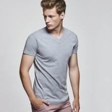 Camiseta algodón manga corta cuello pico 155g SAMOYEDO