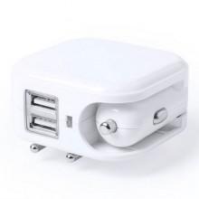 Cargador USB para pared  y coche con 2 salidas DABOL
