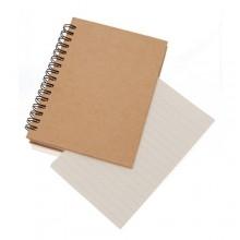 Llibreta  cartró reciclat 11,6 X 15,3 cm.  80 fulles llises EMEROT