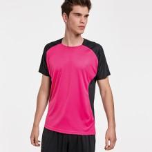 Camiseta con logotipo técnica bicolor -BUGATTI
