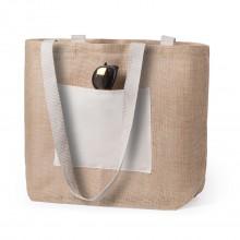 Bolsa con base de yute y algodón FARUS