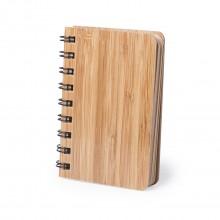 Llibreta bambú, portada rígida 12 x 9cm. 80 fulles LEMTUN