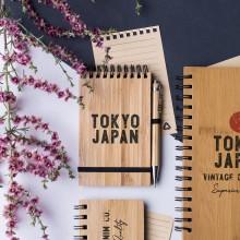Llibreta bambú, portada rígida 10 x 15 cm. 70 fulles TUMIZ