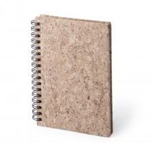 Llibreta tapa rígida de suro 11.5 x 15.5 cm. 50 fulles llises CANDEL