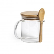 Tassa de vidre/bambú 420 mL KIPAL
