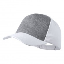 Gorra de 5 panells polièster/cotó