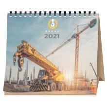 Calendari sobretaula wire-o 16x14cm RECICLAT 7 fulls personalitzat