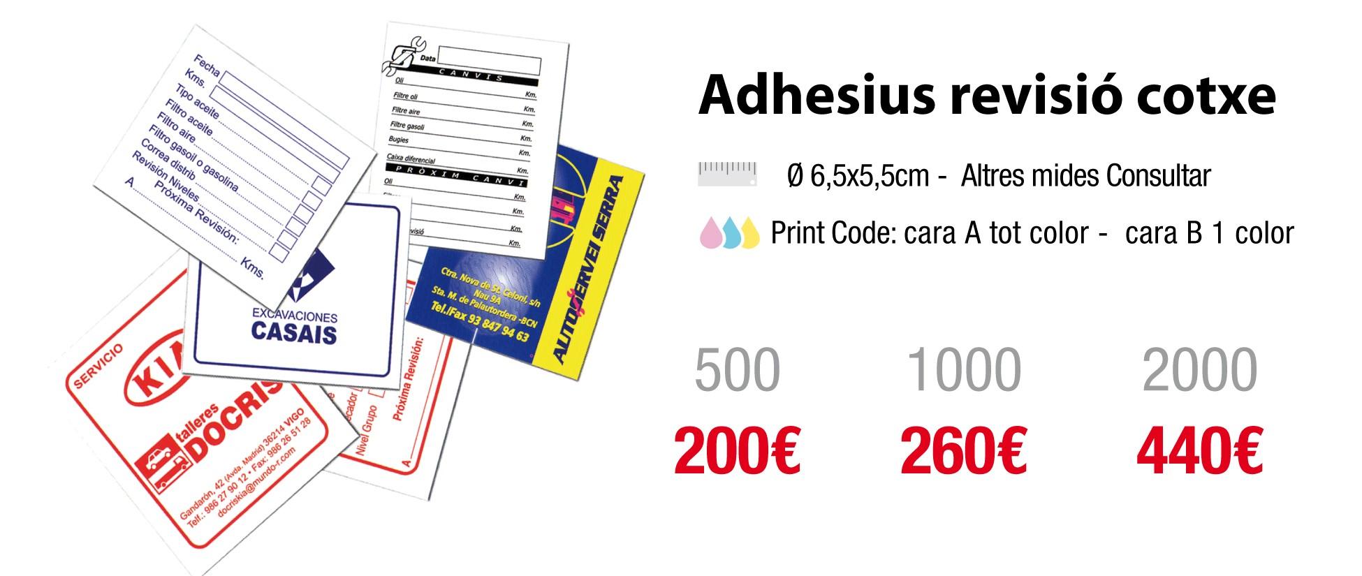 adhesius revisió vehicle