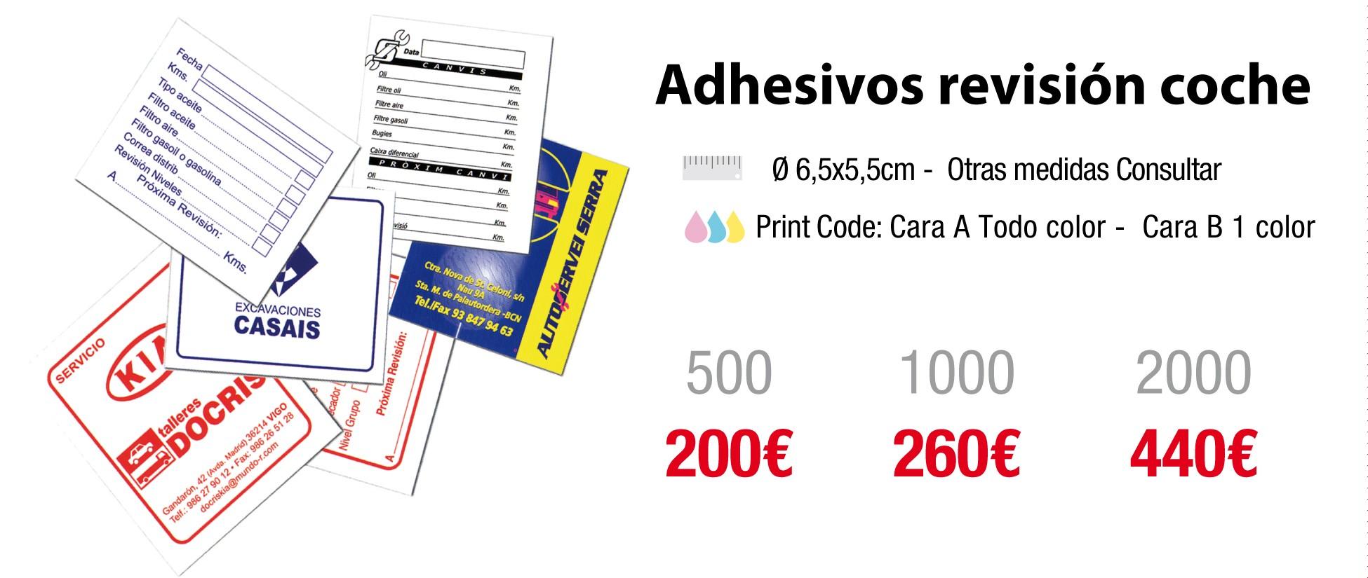 adhesivos revisión coche